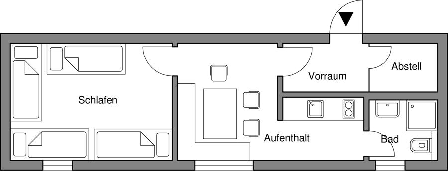 Jagdhütte mit 4 Schlafplätzen
