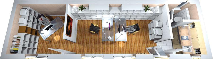 Visualisierung Büro 2
