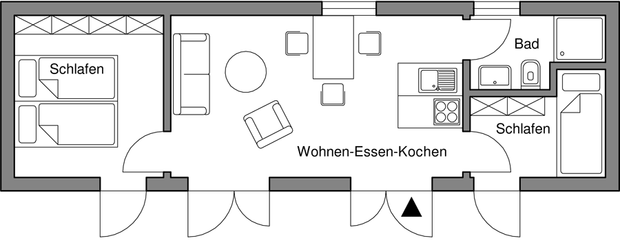 Wohnung für bis zu 4 Personen