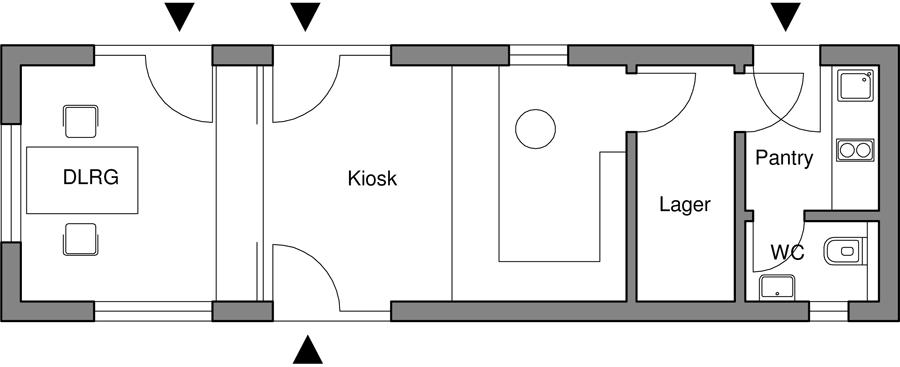 DLRG Strandaufsicht und Kiosk